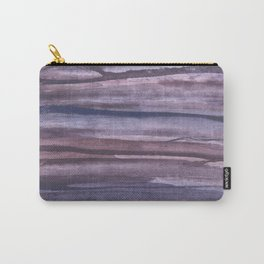 Violet brown streaked watercolor Carry-All Pouch
