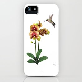 Hummingbird & Phalaenopsis iPhone Case