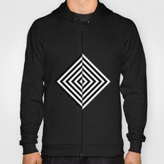 Black and White Concentric Diamonds Hoody