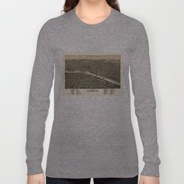 Vintage Map of Rockford Illinois (1880) Long Sleeve T-shirt