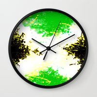 jamaica Wall Clocks featuring Jamaica dream by seb mcnulty