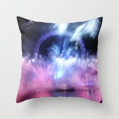 New Year's Eve at London Eye Throw Pillow