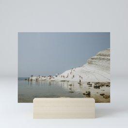 "Mediterranean Dreams Series ""Scala dei Turchi""   Travel Photography Italy Mini Art Print"