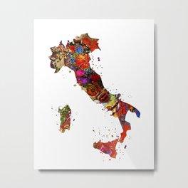 Italy Map Metal Print