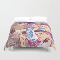 pasta Duvet Covers featuring smelly pasta house by speep