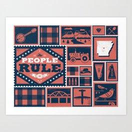 Arkansas Art Print