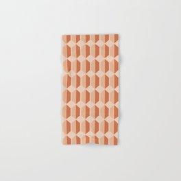 Hexagonal Pattern VII Terracotta Hand & Bath Towel