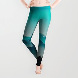 Rise above the mist. Turquoise Leggings