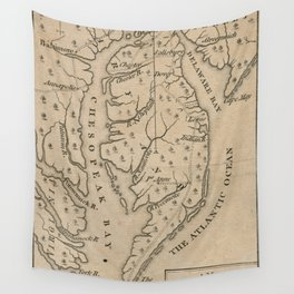 Vintage Map of The Chesapeake Bay (1769) Wall Tapestry