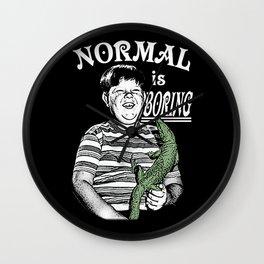 Pugsley: Normal is Boring Wall Clock