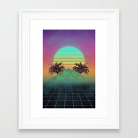 80s Framed Art Prints featuring 80s love by Mikuloctopus