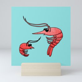Cute Shrimps Mini Art Print
