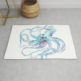 Vintage octopus colorized Rug