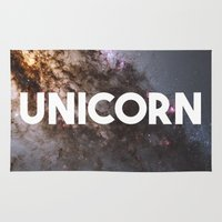 the last unicorn Area & Throw Rugs featuring Unicorn by eARTh