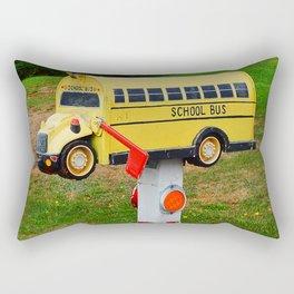 School Bus Mailbox Rectangular Pillow