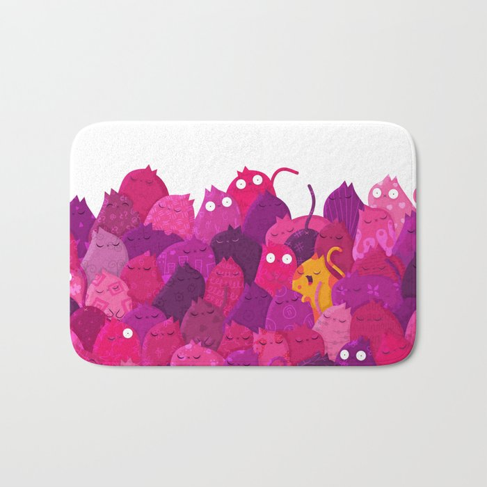 Life in pink Bath Mat