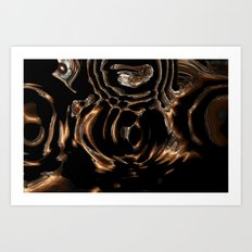 Copper and Silver Abstract  Art Print