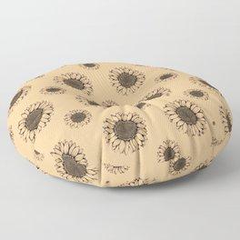 Sunflower Floor Pillow
