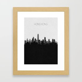 City Skylines: Hong Kong Framed Art Print