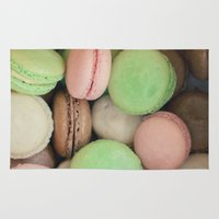 macaroons Area & Throw Rugs featuring French Macaroons by Laura Ruth