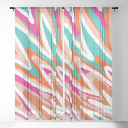 Color Vibes Sheer Curtain