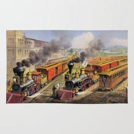 American Railroad Scene (Currier & Ives) Rug