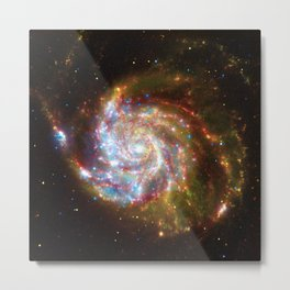 Spiral Galaxy Messier 51 Metal Print