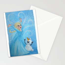 The Cold Never Bothered Me Anyway Stationery Cards