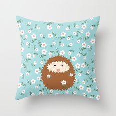 Hedgie in Spring Throw Pillow