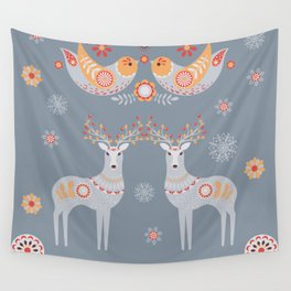 Nordic Winter Wall Tapestry