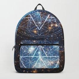 Merkaba in Flower of Life Backpack