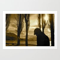 luke hemmings Art Prints featuring Luke by Bosco