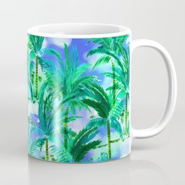Palm Tree Blue Green Coffee Mug
