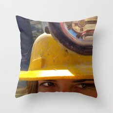 Shifty Work Throw Pillow