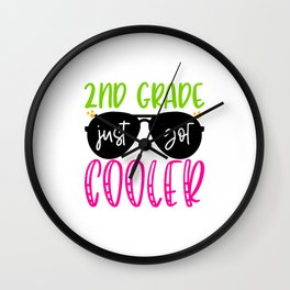 2nd Grade Just Got Cooler Wall Clock