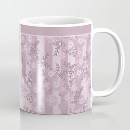 Floral pattern dusty rose . Coffee Mug