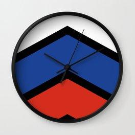 Chevron Russia Flag Colors Wall Clock