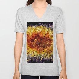 Fire Flower - Vulpecula Unisex V-Neck