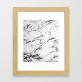 Greyish White Marble Framed Art Print