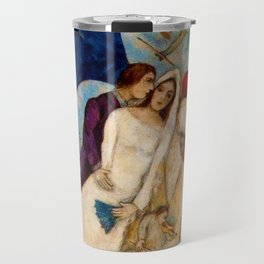 The Betrothed and Eiffel Tower by Marc Chagall Travel Mug