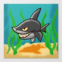 Grinning Shark Canvas Print
