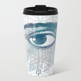 Mandala Vision Flower of Life Metal Travel Mug