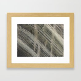 Gray striped abstract painting Framed Art Print