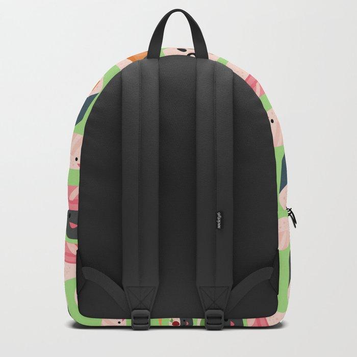 Kawaii sushi green Backpack