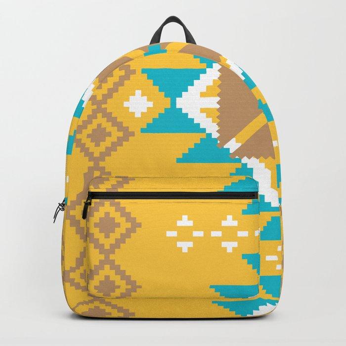 Geometric Navajo pattern Backpack