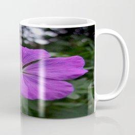 Violet Viola Flower With Garden Background  Coffee Mug