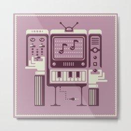 Retro electronic music maker Metal Print