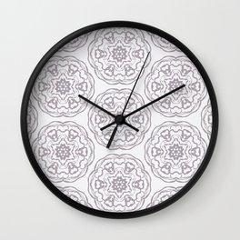 Rosettes Wall Clock