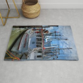 ROCK BOTTOM shrimp boat  Rug