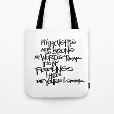 My Thoughts Are Strong Tote Bag